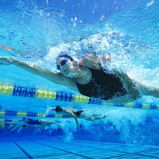 Группа по плаванию в бассейне ЦСКА, март 2020