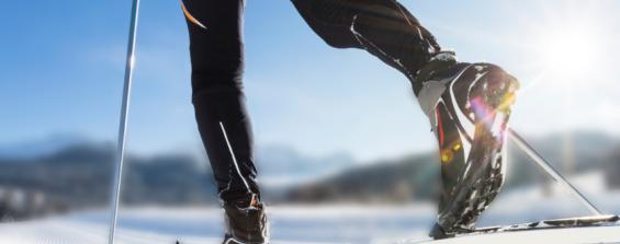 Тренировки зимой. Беговые лыжи